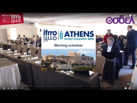 Morning Schedule - IFRRO World Congress International Confer