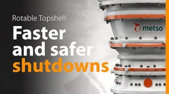 Metso Rotable Topshell – Key to Faster and Safer Shutdowns