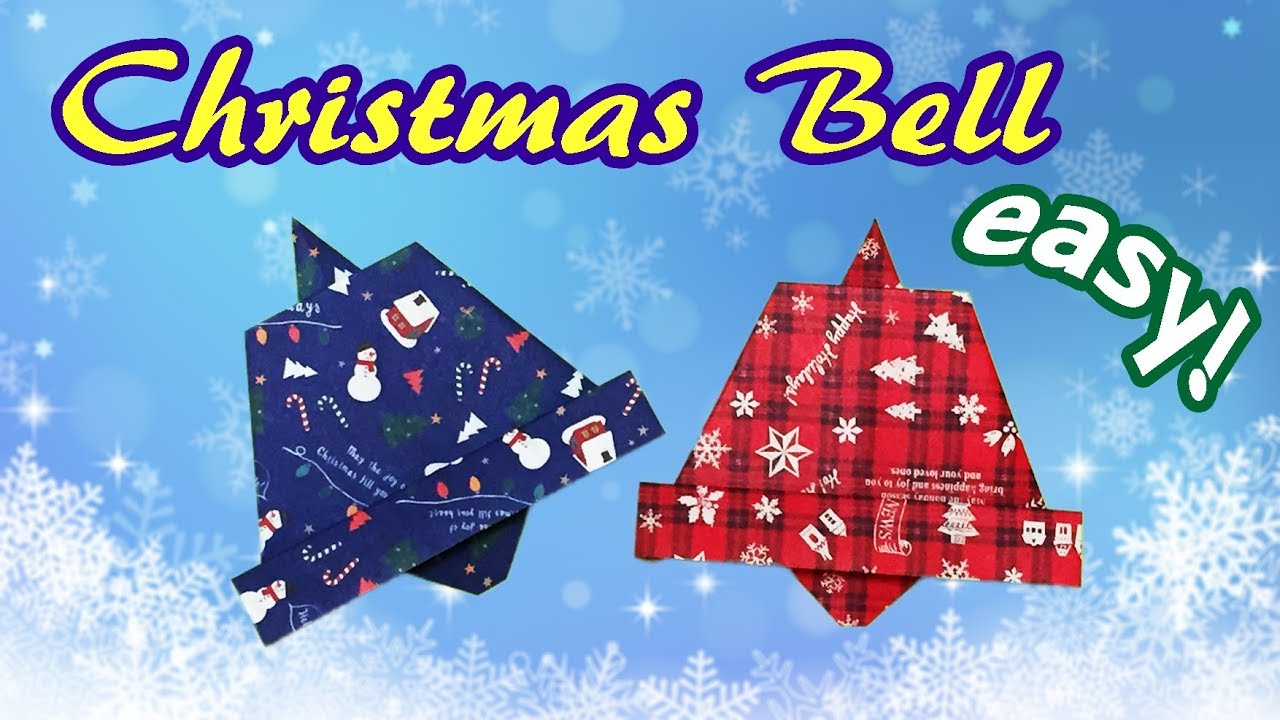 Origami Easy but Cool Christmas Bell   How to Make a Paper Christmas Decoration Last Minutes ...