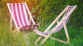Раскладное кресло / шезлонг из фанеры своими руками   DIY мебель