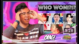 (REACTION) Who Sang It Better: Girls Like You (Japan, Vietnam, Belgium, South Korea, Brazil, Canada)