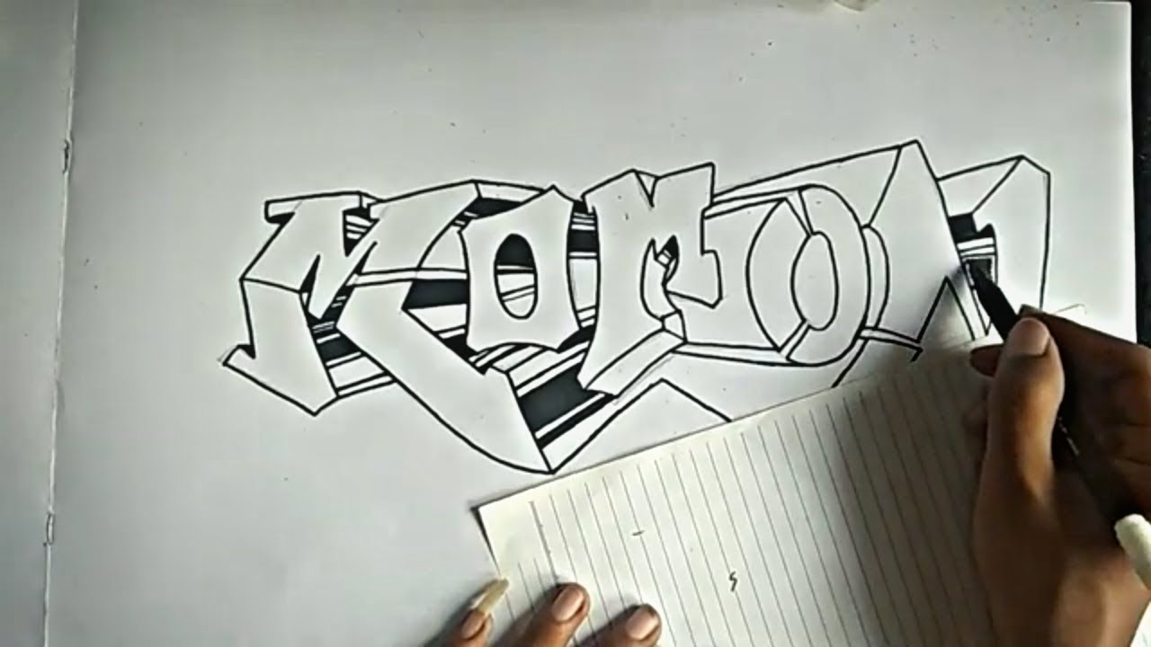 How to make graffiti names on paper