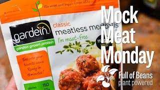 Mock Meat Monday: Vegan Pasta And Sauce With Gardein Brand Classic Meatballs