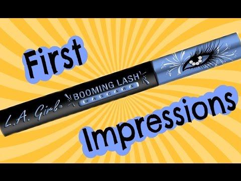 3ea22578070 First Impressions: LA Girl Booming Lash Mascara - YouTube