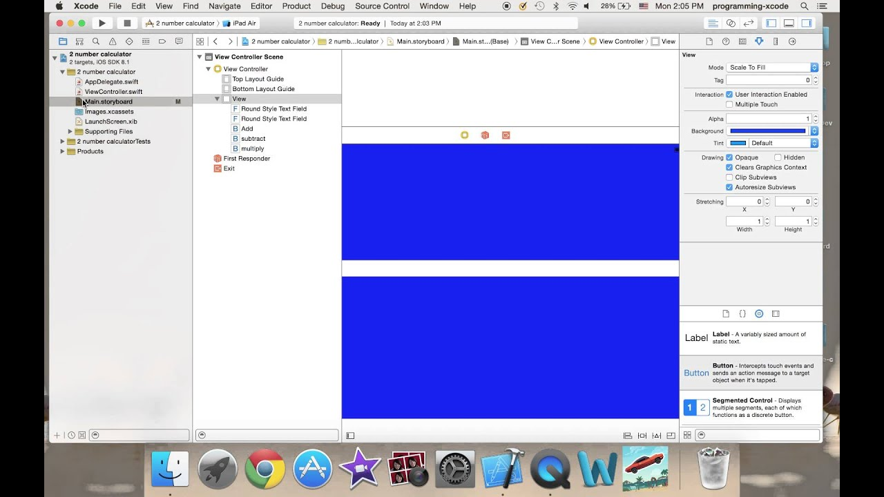 Background image xcode 6 - Ios Programming 2 Number Calculator With Xcode 6 And Swift