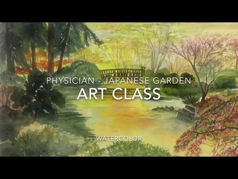Art Class - Physician - Japanese Garden - Watercolor