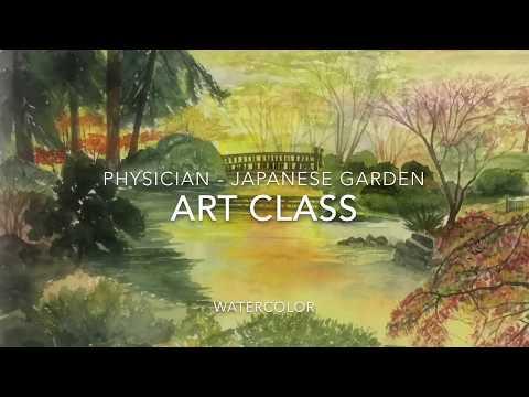 Art Class - Physician - Japanese Garden - Watercolor