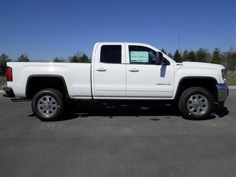 sold.2015 GMC SIERRA 2500 HD DOUBLE CAB SLE Z71 4X4 SUMMIT WHITE 6.0 V-8 LEATHER CALL 855.507 ...