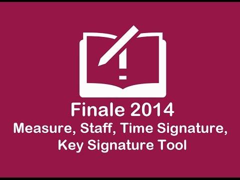 Measure, Staff, Time, key, Selection Tool (Finale 2014 Sesión 4)