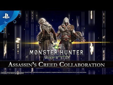 Monster Hunter: World - Assassin's Creed Collaboration Trailer | PS4 thumbnail