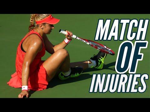 MATCH OF INJURIES | Sabine Lisicki Vs Simona Halep - 2015 US Open R4