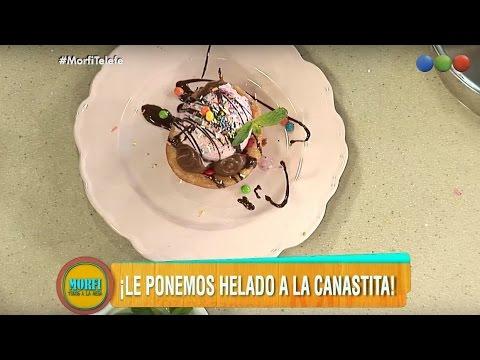 Canastitas de churro con helado - Morfi