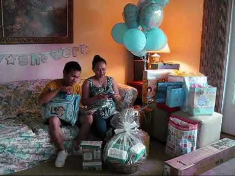 baby shower at home 1 - YouTube