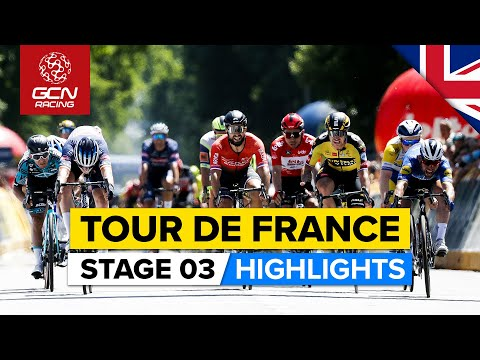 Tour de France 2021 Stage 3 Highlights | Brutal Crashes Strike Jumbo Visma & Team Ineos!