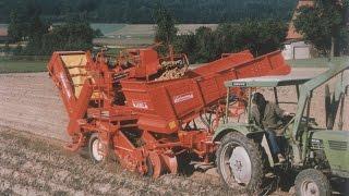 GRIMME   Einreihige Kartoffelerntetechnik in den 1980ern