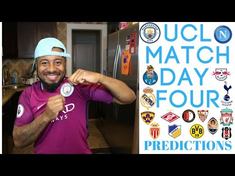 2017/18 UEFA CHAMPIONS LEAGUE MATCH DAY FOUR PREDICTION | GROUPS E, F, G, H