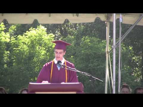 Matthew Goldstein: shs 2013  commencement  Honored student speaker's address