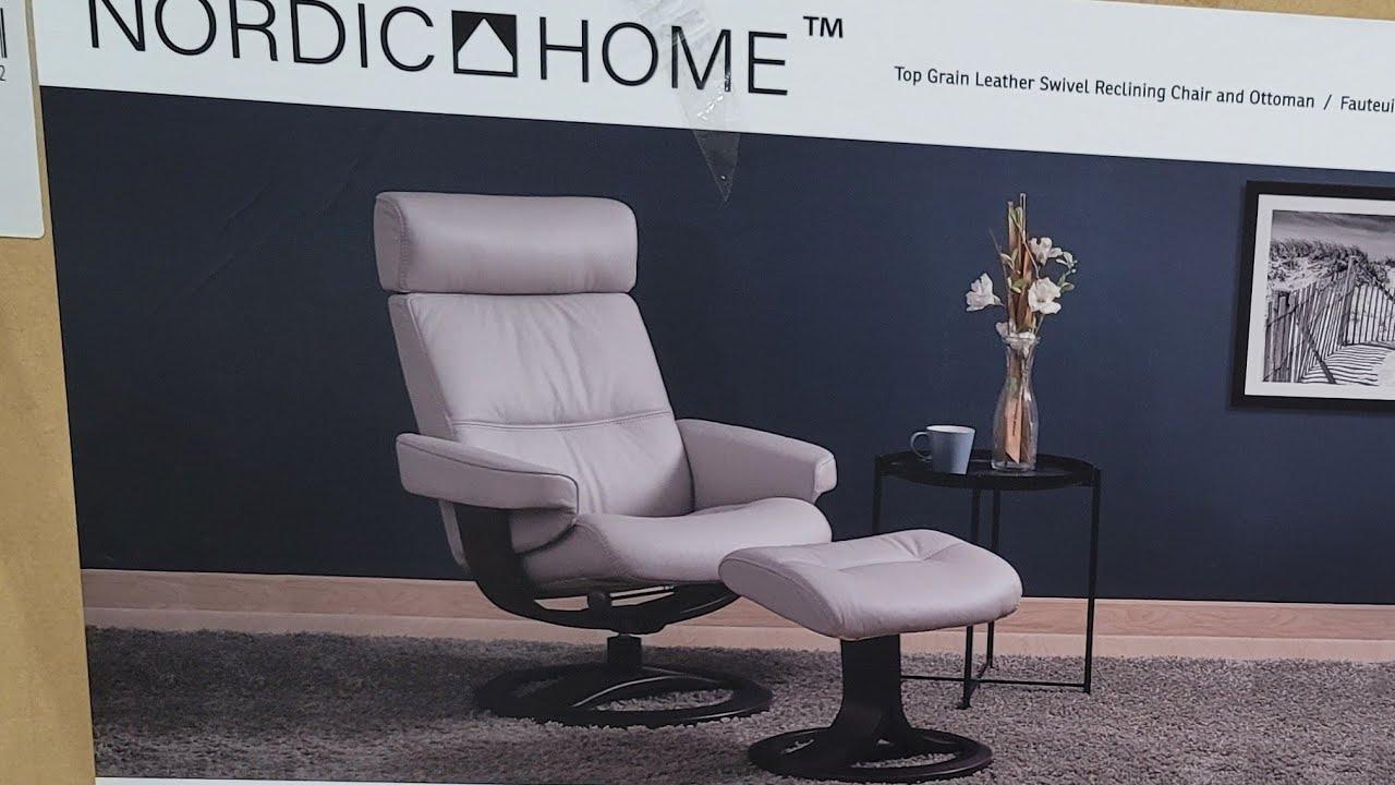 costco nordic home leather swivel recliner w ottoman 799