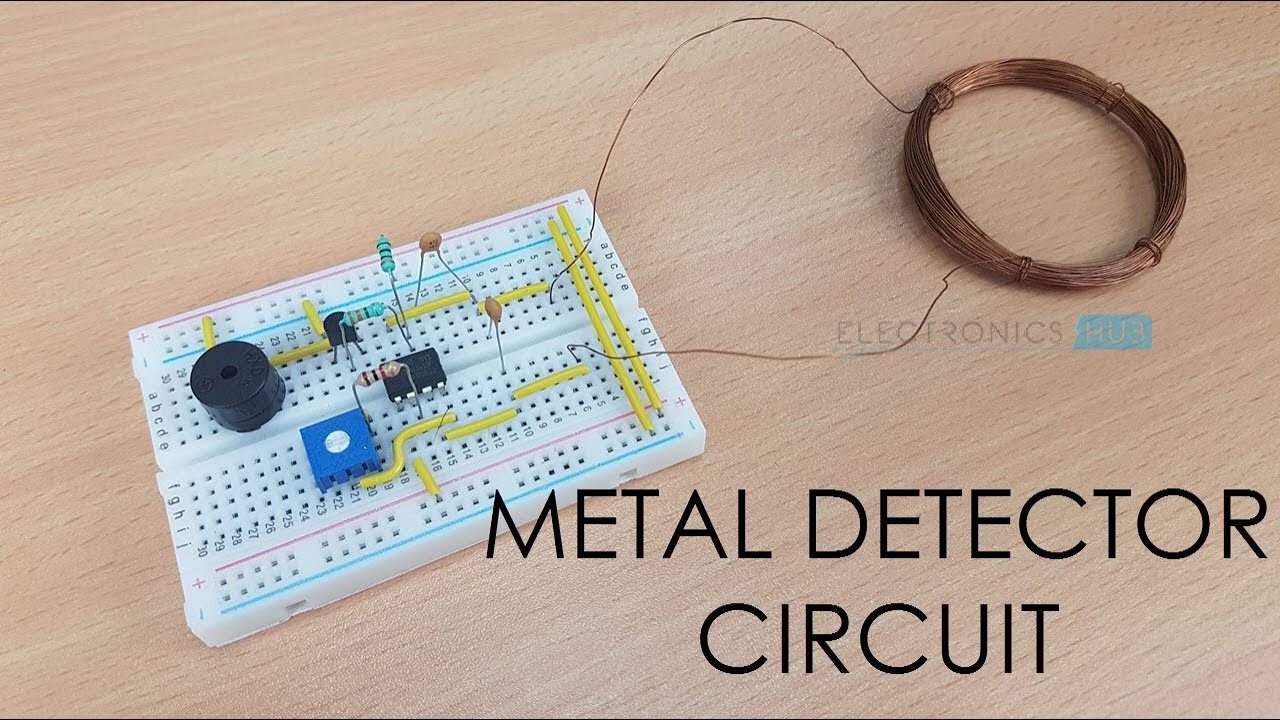 Circuit Diagram Of Metal Detector Project | Simple Metal Detector Circuit Youtube
