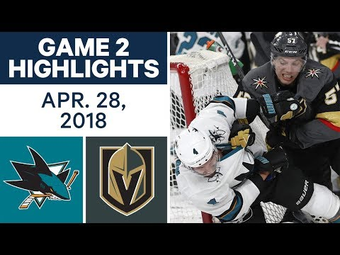NHL Highlights | Sharks vs. Golden Knights, Game 2 - Apr. 28, 2018