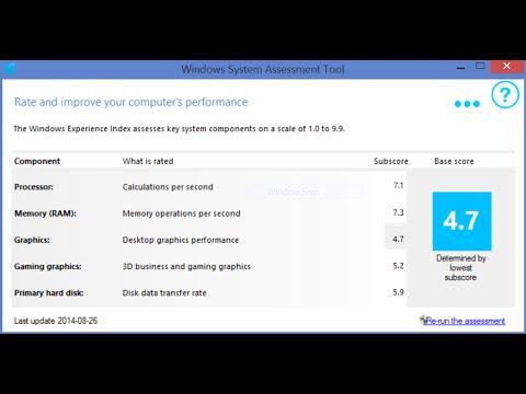 Как посмотреть быстродействие компьютера в windows 8