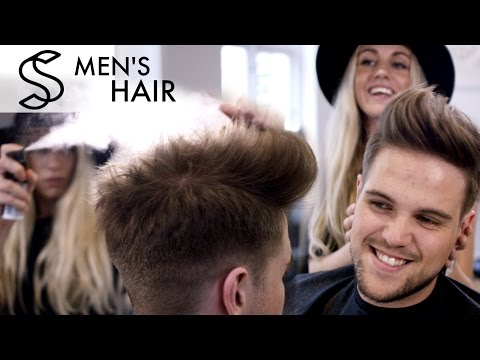Men's hair With Pre-styling spray and hair powder (Blow & Sidekick Remix)