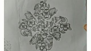 Rangoli designs..birds..simple N  creative...muggu.kolam..13 to 1 dots