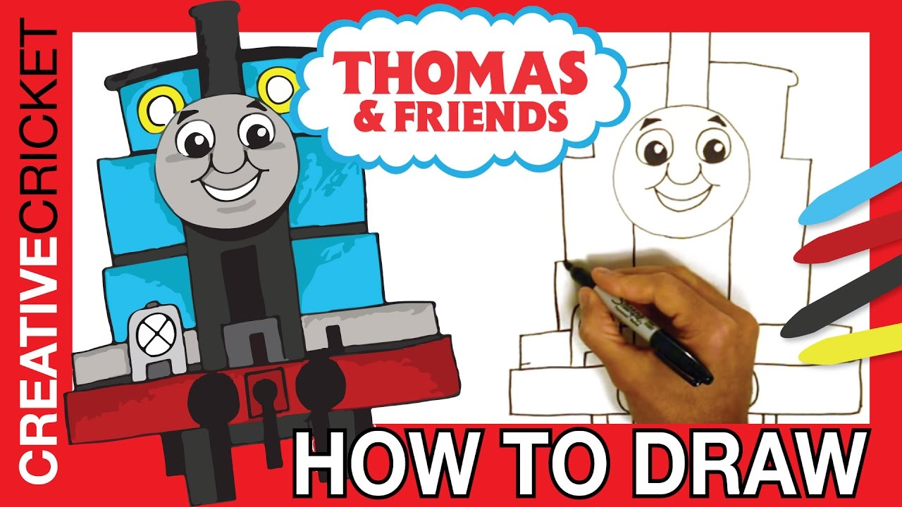 How to Draw Thomas the Tank Engine ♦ Coloring with Thomas ...