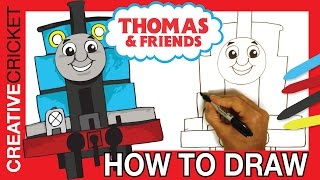 Thomas and Friends ♦ How to Draw Thomas the Train Step by Step ♦  Animated Drawing Tutorial