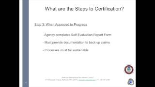 What is Involved to Become and Be AIRC Certified?