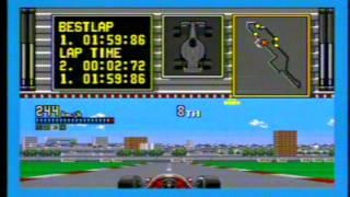 Ferrari Challenge Sega Megadrive Gameplay - Classic Retro Game Room