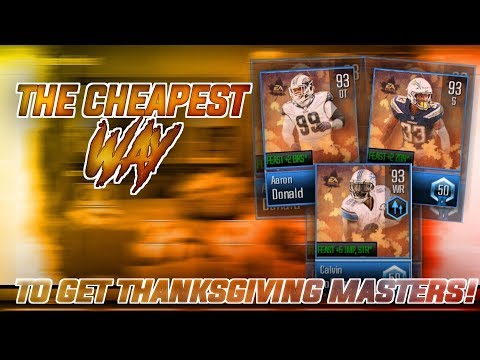 *CHEAPEST* WAY TO GET THE THANKSGIVING MASTER PLAYERS! Madden Overdrive Madden Feast Promo