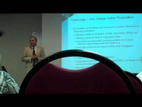 CoreLogic has an appraisal department, using MLS data in AVMs in 40 markets.mp4