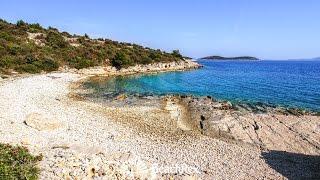 beach Vrtiluka, Jezera, island Murter, Croatia