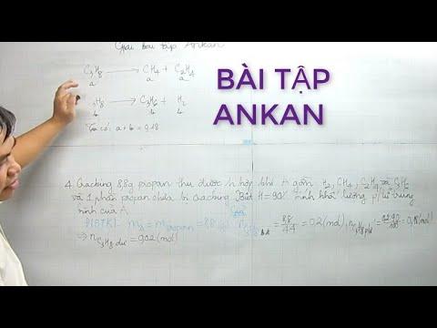 #BaitapANKANhoa11                                   Ôn tập Hóa Học – Phần 49: Bài tập Ankan – P1