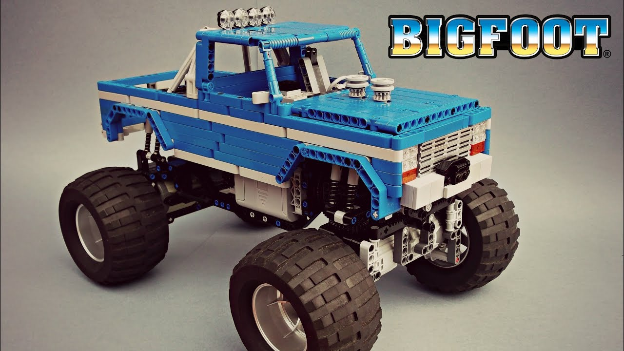 lego technic bigfoot  1 rc monster truck - moc - with instructions and parts list