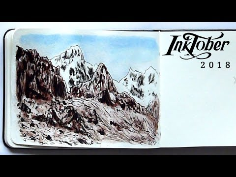 Inktober Day 5 | How to Experiment With Your Art Style Tutorial | Landscape Drawing