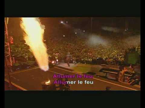 Johnny Hallyday - Allumer le feu - vidéo clip - Karaoké - Fr.avi