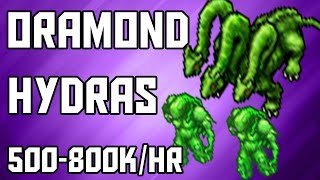 [Tibia Where to Hunt – EK 150+] Oramond Hydras (500-800k/hr)