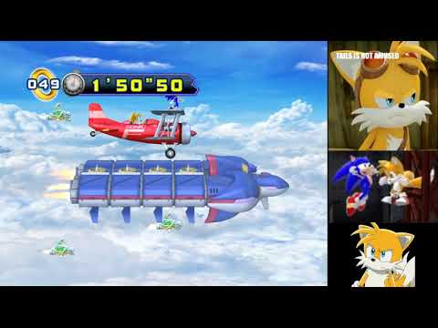"""Sonic the Hedgehog 4: Episode II (PC): Sky Fortress 1 (Sonic) in 4'52""""64 