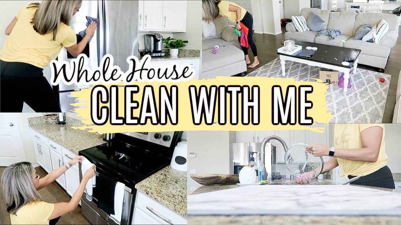 WHOLE HOUSE CLEAN WITH ME | DECLUTTER + ORGANIZE WITH ME |  EXTREME CLEANING MOTIVATION