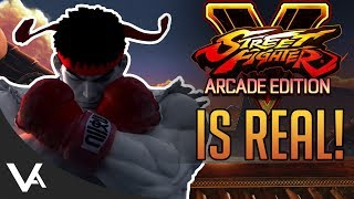 It's Real! Street Fighter 5 Arcade Edition Officially Announced With Details