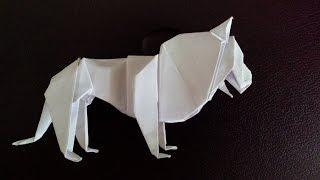 как сделать из бумаги лев