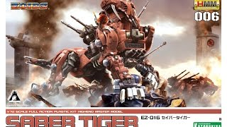 Kotobukiya 1/72 Zoids Saber Tiger 006 Time Lapse Build Music Artist...