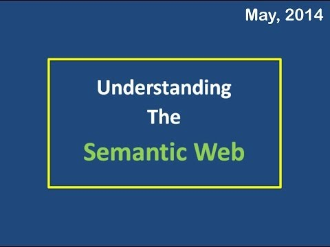 Basic Understanding of the SEMANTIC-WEB Technology. (not Advanced) Excellent Description.