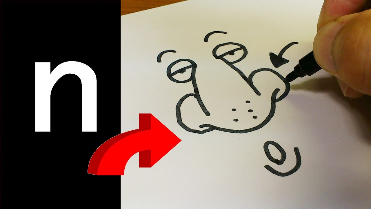 How to Draw Doodle Using Letters
