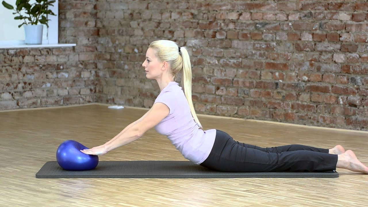 Small Squishy Exercise Ball : SISSEL Pilates Soft Ball - YouTube