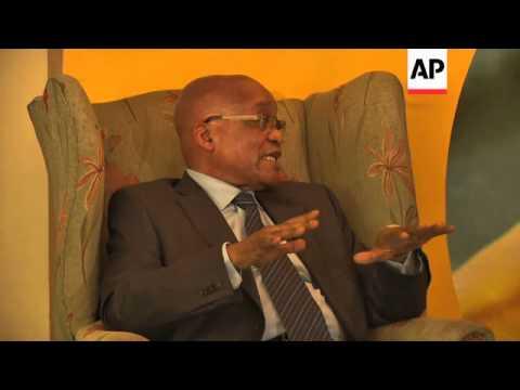 "President Zuma calls Marikana massacre ""a mishap"" and slams UN on Syria"