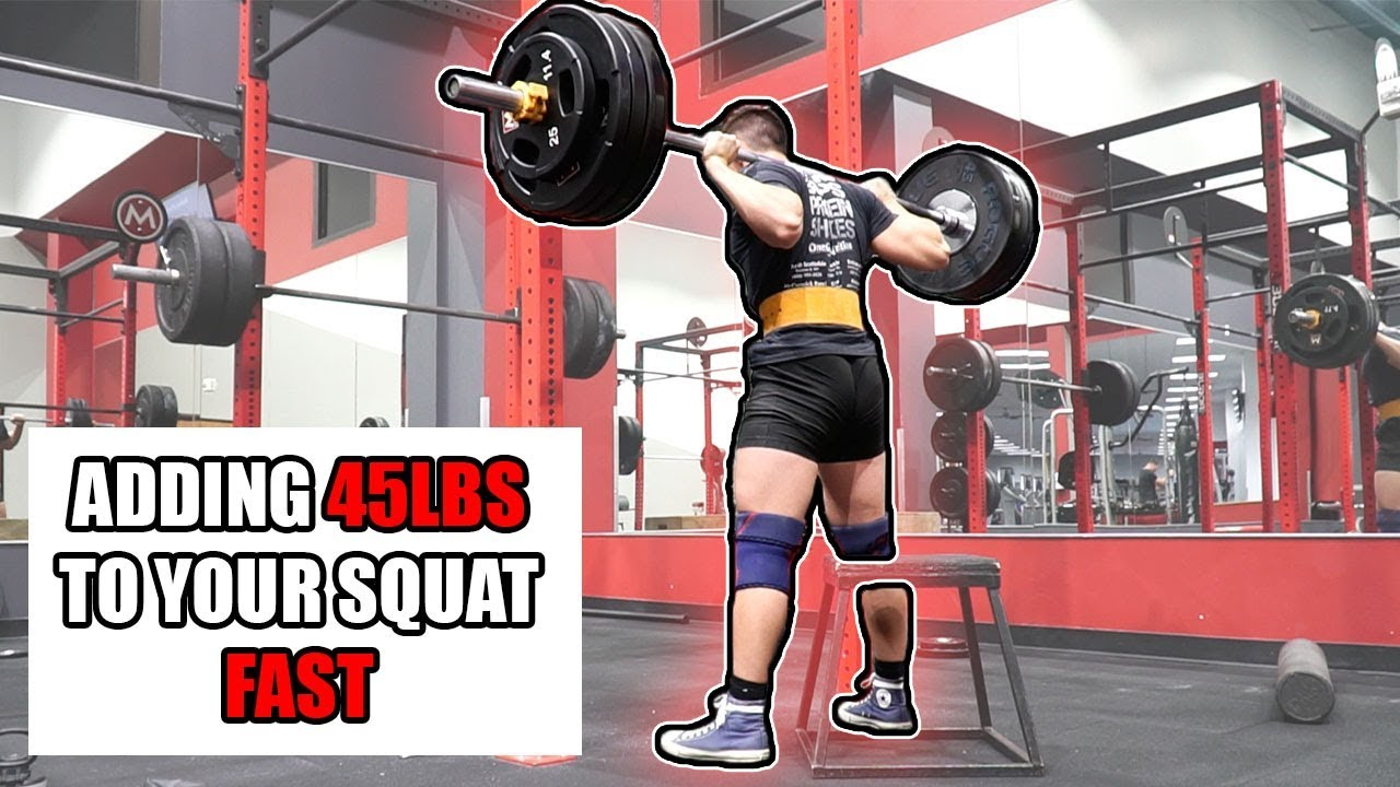 How to Add Weight to Your Squat FAST! *45lbs by Doing This...*
