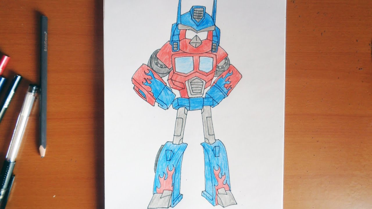 How To Draw Optimus Prime Angry Birds Transformers